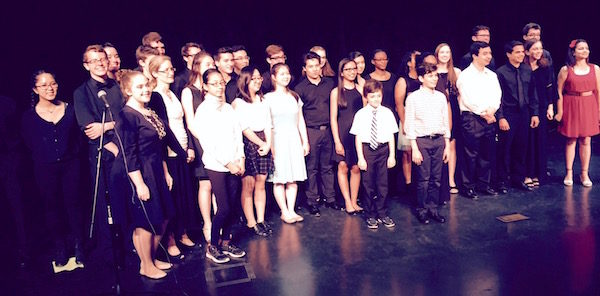 "Composers and performers at LICA's ""Music by and for Students"" concert on May 27, 2016 at Hofstra University."