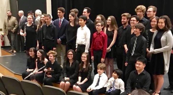 "All of the composers and performers at ""Music By and For Students"" 2018 at Hofstra University, Sunday June 10, 2018"