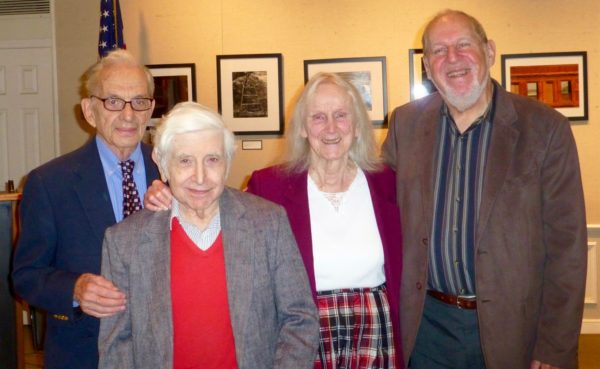 """""""Bryant Library, October 23, 2016. A Birthday Concert honoring the October 21 Birthday of Murray Cohen, Graham Sternklar and Marga Richter, with LICA President Herbert Deutsch"""""""